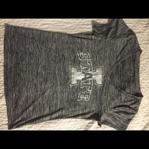 Gray Iowa State University Cyclone tee
